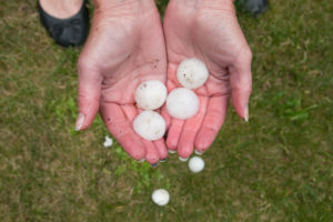 Hail Stones Damage Roofing Repair Contractor
